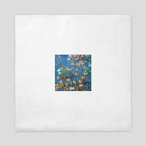 Almond Blossoms by Vincent van Gogh Queen Duvet