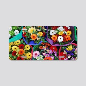 Colorful floral bouquets Aluminum License Plate