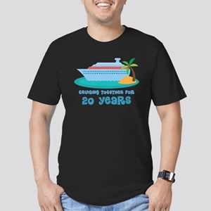20th Anniversary Cruise Men's Fitted T-Shirt (dark