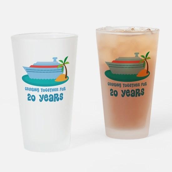 20th Anniversary Cruise Drinking Glass