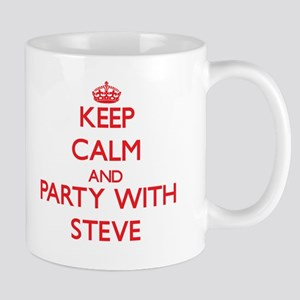 Keep Calm and Party with Steve Mugs