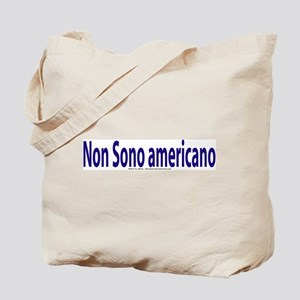 """I am not American"" Italian Tote Bag"