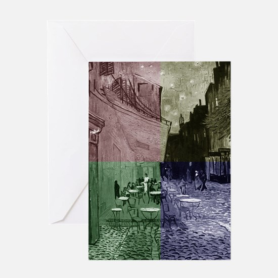 Cafe Terrace at Night by Van Gogh (4 Greeting Card