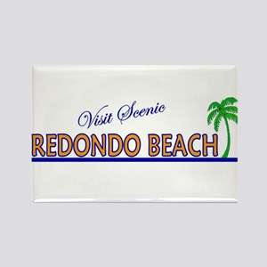 Visit Scenic Redondo Beach, C Rectangle Magnet