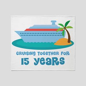 15th Anniversary Cruise Throw Blanket