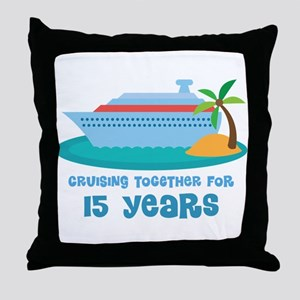 15th Anniversary Cruise Throw Pillow