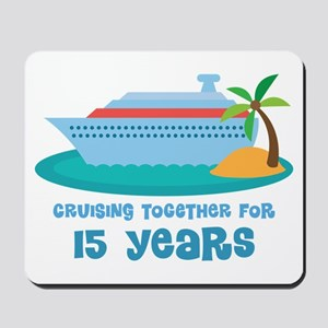 15th Anniversary Cruise Mousepad