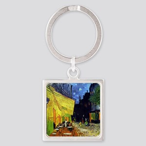 Cafe Terrace at Night by Van Gogh Square Keychain