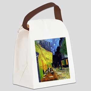 Cafe Terrace at Night by Van Gogh Canvas Lunch Bag