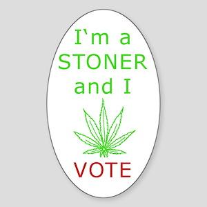 STONER VOTER Oval Sticker