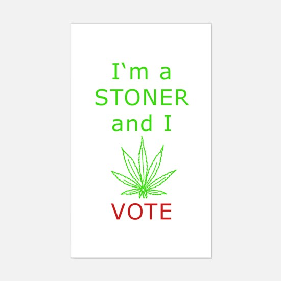STONER VOTER Rectangle Decal