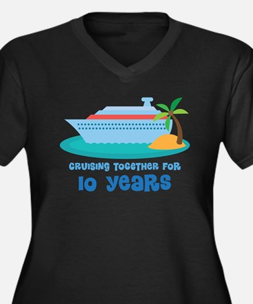10th Anniversary Cruise Women's Plus Size V-Neck D