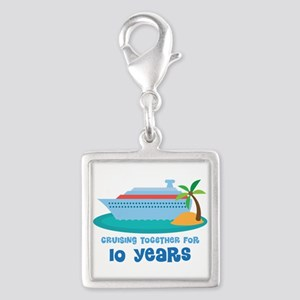 10th Anniversary Cruise Silver Square Charm