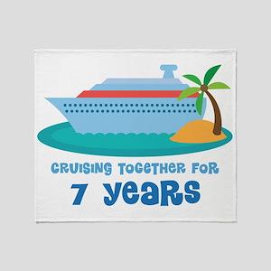 7th Anniversary Cruise Throw Blanket