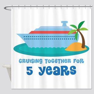 5th Anniversary Cruise Shower Curtain