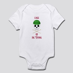 Knit Skull Cap Infant Bodysuit