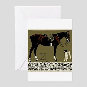 1912 Ludwig Hohlwein Horse Riding Poster Art Greet