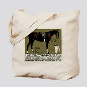 1912 Ludwig Hohlwein Horse Riding Poster Art Tote