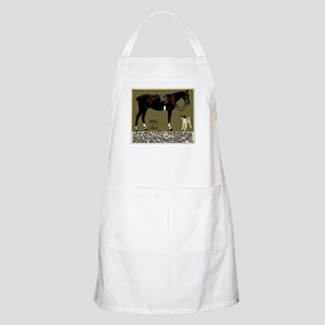 1912 Ludwig Hohlwein Horse Riding Poster Art Apron