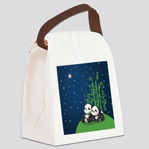 Star Night Panda Canvas Lunch Bag