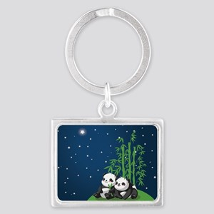Star Night Panda Landscape Keychain