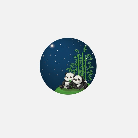 Star Night Panda Mini Button