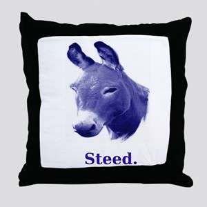 Democratic Steed Throw Pillow