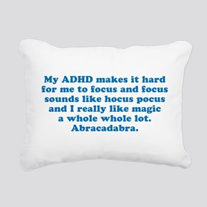 ADHD Magic Hocus Pocus Rectangular Canvas Pillow