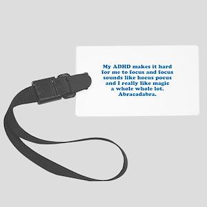ADHD Magic Hocus Pocus Luggage Tag