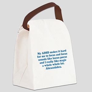 ADHD Magic Hocus Pocus Canvas Lunch Bag