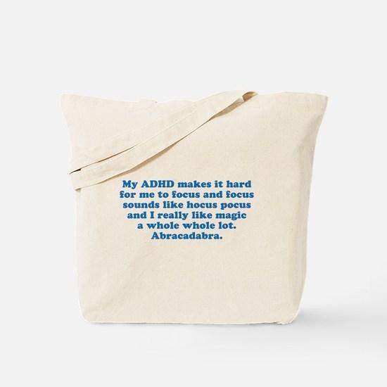ADHD Magic Hocus Pocus Tote Bag