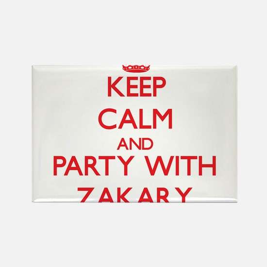 Keep Calm and Party with Zakary Magnets