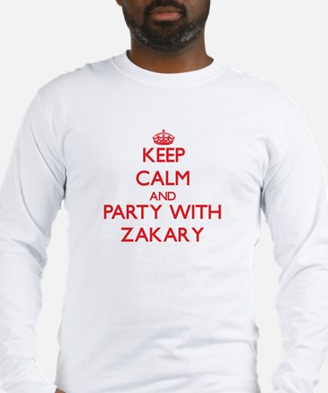 Keep Calm and Party with Zakary Long Sleeve T-Shir