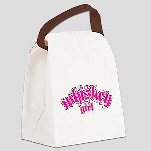 WHISKEYGIRL_2PNKBLK Canvas Lunch Bag