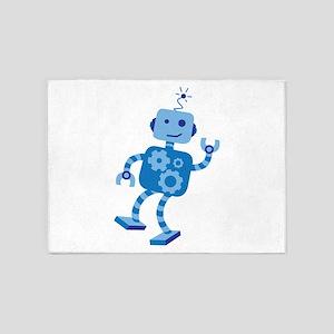 Dancing Robot 5'x7'Area Rug