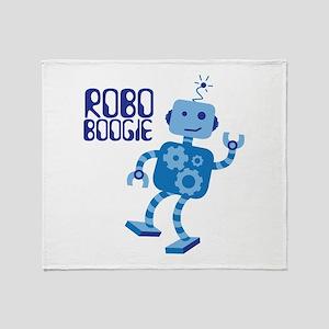 ROBO BOOGIE Throw Blanket