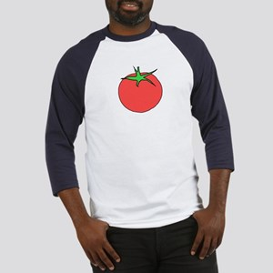 Tomato Shirt With Blue Arms
