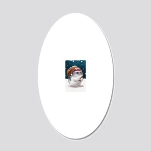 hamster_final_santa_5_medium 20x12 Oval Wall Decal