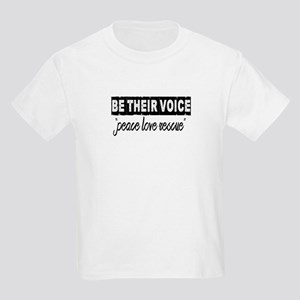 "Be Their Voice ""peace love rescue"" T-Shirt"