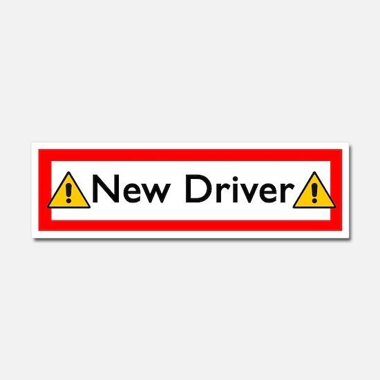 Unique New driver Car Magnet 10 x 3