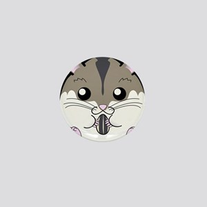 Winter Russian Dwarf Hamster Mini Button