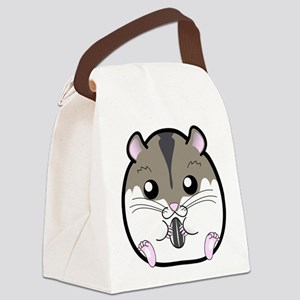 Winter Russian Dwarf Hamster Canvas Lunch Bag