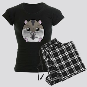 Winter Russian Dwarf Hamster Women's Dark Pajamas