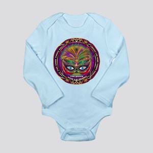 Mardi Gras Queen 8 Long Sleeve Infant Bodysuit