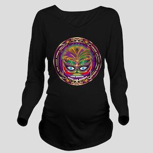 Mardi Gras Queen 8 Long Sleeve Maternity T-Shirt