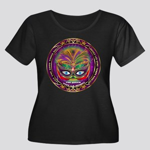 Mardi Gras Queen 8 Women's Plus Size Scoop Neck Da