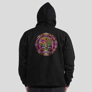 Mardi Gras Queen 8 Zip Hoodie (Dark)