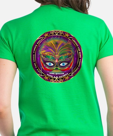 Mardi Gras Queen 8 Women's Dark T-Shirt