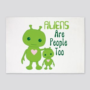 ALIENS Are People Too 5'x7'Area Rug