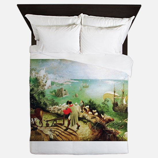 Fall Of Icarus Queen Duvet